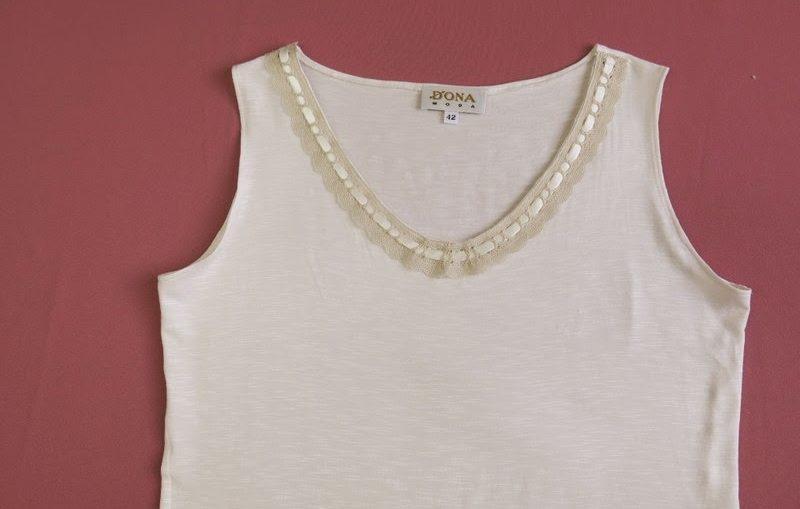 ομορφαινουμε ενα απλο t shirt, μεταποίηση φανελας