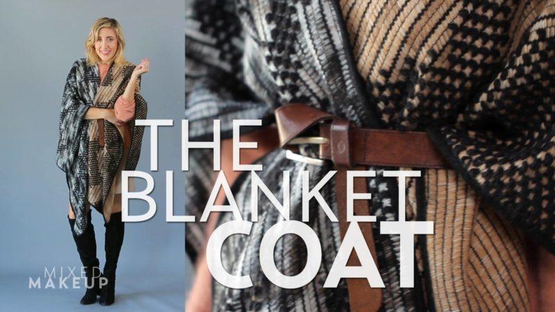 blanket coats ευκολο παλτο ραμμενο με ενα κομματι υφασμα