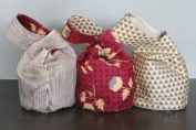 japanese knot bag ραψτε μονες σας πουγκι με οτι υφασμα προτιματε