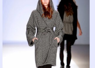 παλτο με κουκουλα hooded wrap coat