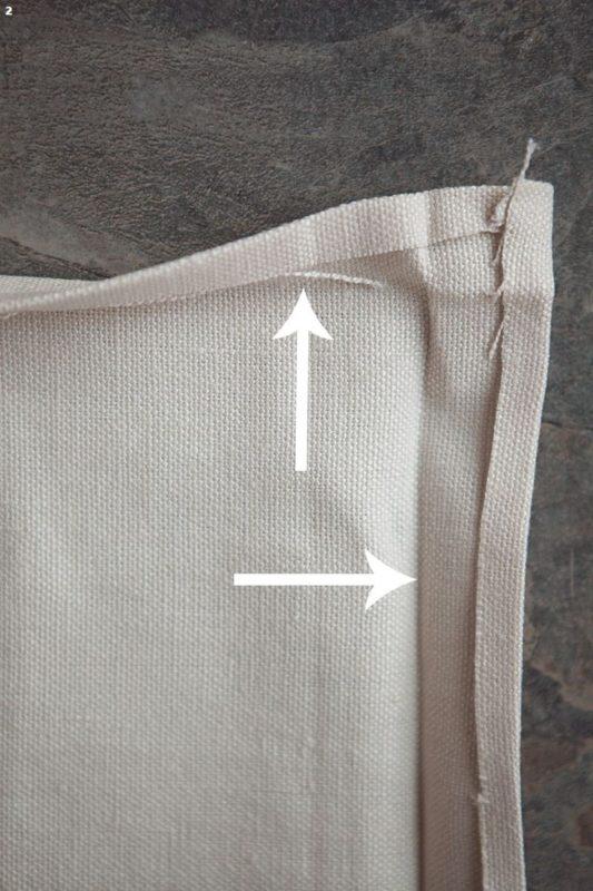 εσωτερικες γωνιες κεντηματων, πως ραβουμε τις γωνιες κεντηματων