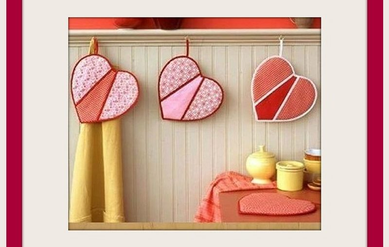καρδουλες πιαστρες κουζινας diy, οδηγίες ραπτικης για πιάστρες