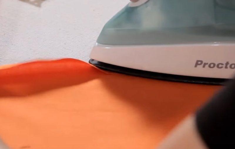 προετοιμασια ραφης κρυφου φερμουαρ, προετοιμαζω το υφασμα για φερμουαρ