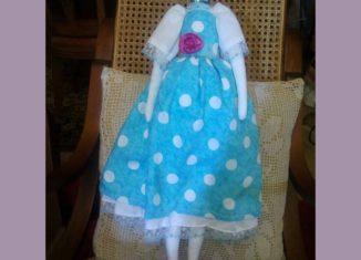 mikela petta, χειροποίητη κούκλα tilda με μαλλιά mikela petta DIY