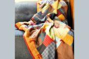 patchwork φανελενια κουβερτα ραπτική για αρχάριες quilting