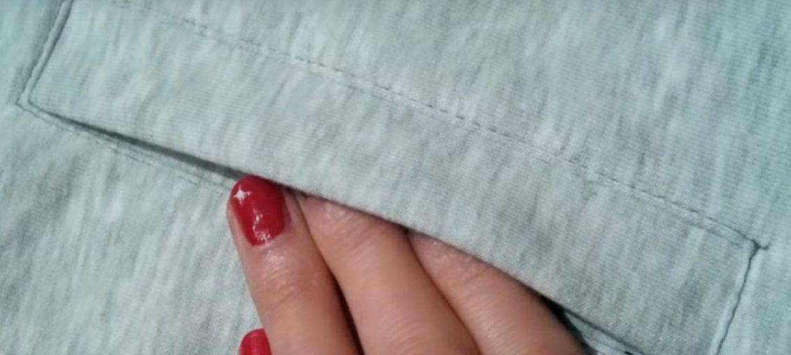 πως να ραψετε μια τσεπη σε παντελονι, μπλουζα η οπου θελετε