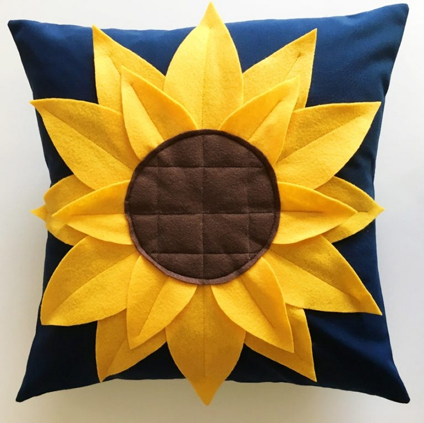 μαξιλαρι ηλιοτροπιο, ραψτε μονες σας θηκη για διακοσμητικο μαξιλαρι