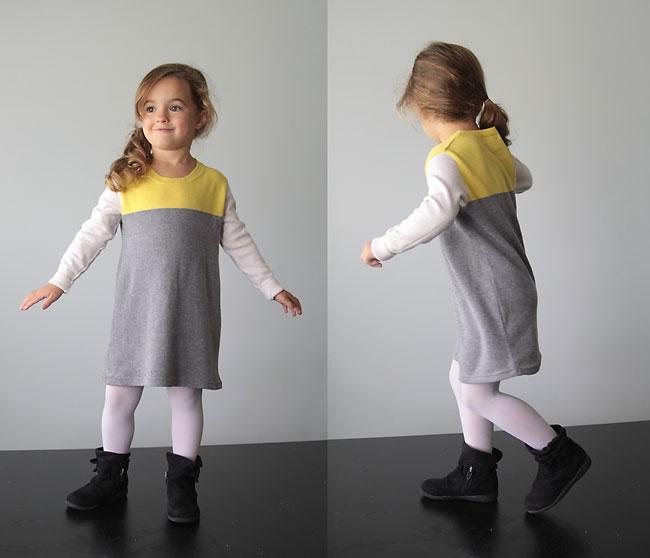 μεταποιηση πουλοβερ σε φορεματακι, πως να μετατρεψετε ενα πουλοβερ σε παιδικο φορεμα