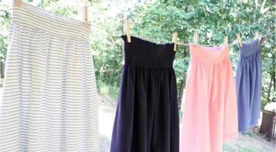 μεταποιηστε μια μπλουζα σε φουστα, ιδεες για μεταποιηση ρουχων