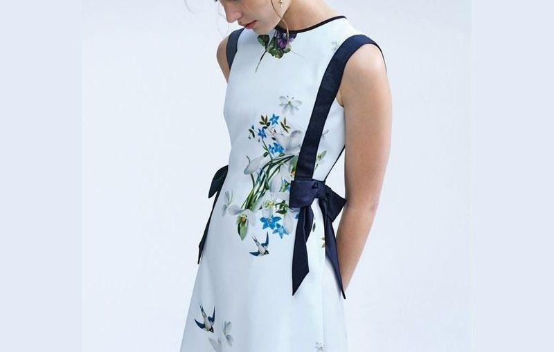 φορεμα σε γραμμη αλφα πατρον
