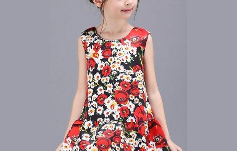 flower dress παιδικο φορεμα, ανοιξιάτικο και καλοκαιρινό