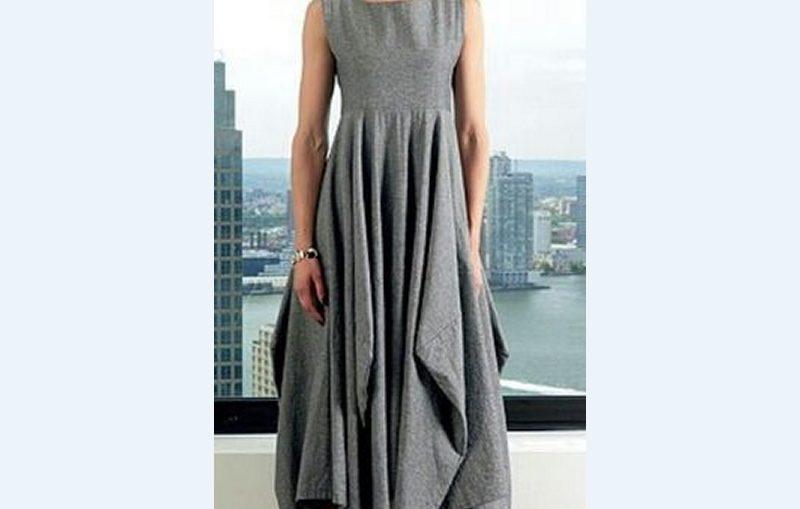 κομψο μακρυ φορεμα, πατρον για να ραψετε μονες σας