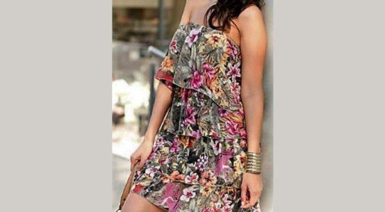 Floral φορεμα με βολαν, πανευκολο φορεμα για αρχαριες