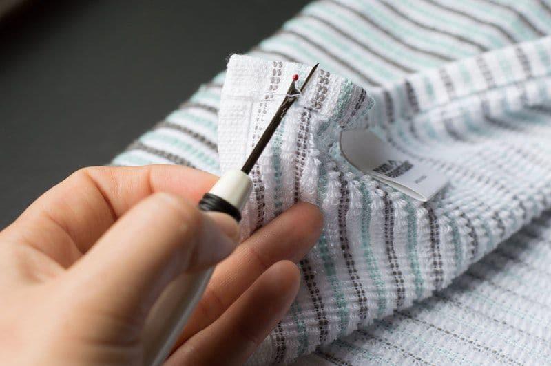 πως να ραψετε θηλιες στις πετσετες, οδηγιες, φωτογραφιες