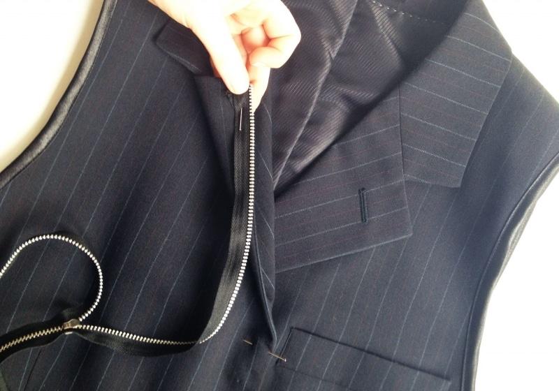 ανδρικο σακακι σε γυναικειο γιλεκ ο, μεταποιηστε οποιοδηποτε παλιο ανδρικο σακακι