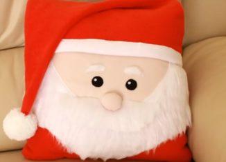 μαξιλαρακι αγιος βασιλης, ραψτε μονοι σας Χριστουγεννιατικα
