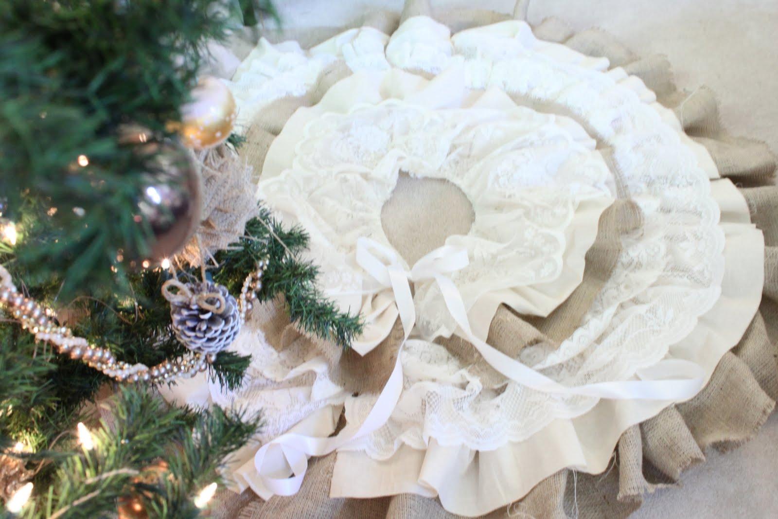 φουστα για χριστουγεννιατικο δεντρο, ραψτε βαση, diy, οδηγιες