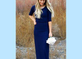 maxi ελαστικο φορεμα, οδηγίες για να ράψετε αυτό το πολυ κομψο φορεμα